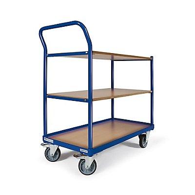 Certeo Tischwagen | 250 kg | Ladefläche LxB 850 × 500 mm | 3 Ladeflächen
