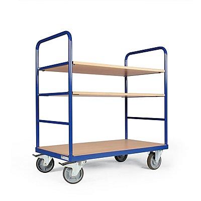Certeo Etagenwagen | 500 kg | HxBxT1160 x 500 x 1040 mm