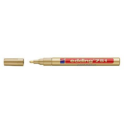 edding Lackmarker 751 4-751053 1-2mm Rundspitze permanent gold