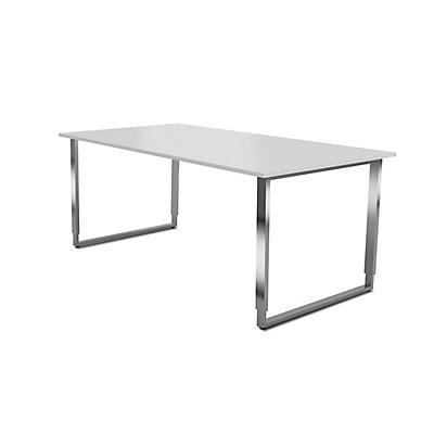 Kerkmann Aveto Schreibtisch mit Edelstahl-Kufen-Gestell - höhenverstellbar