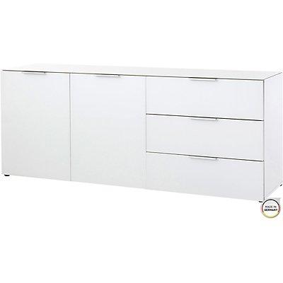 """Certeo Sideboard """"Denver"""" HxBxT 610 x 1560 x 420 mm, weiß"""