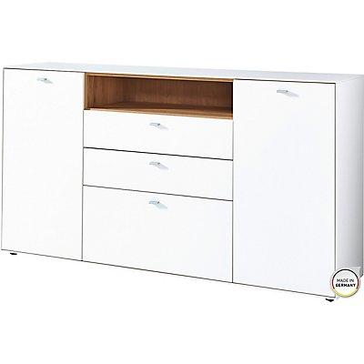 """Germania Sideboard """"DESIGN2"""" HxBxT 920 x 1670 x 440 mm, weiß/navarra-eiche"""