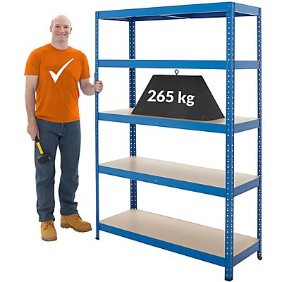 Stabiles Lagerregal - Tragkraft bis zu 265 Kg pro Fachboden