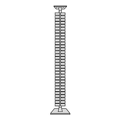 Kerkmann vertikale Kabelführung | 125 cm | Beliebig kürzbar