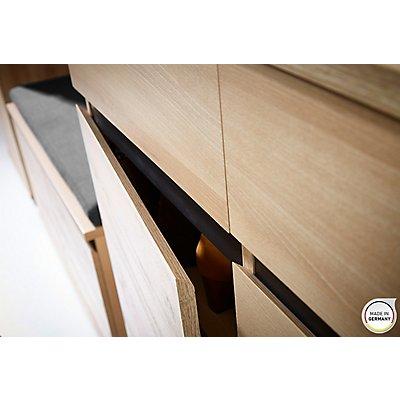 "Certeo Schuhschrank ""GW-Lissabon"" HxBxT 1030 x 960 x 400 mm, edelbuche"