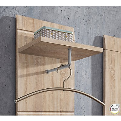 Certeo Garderobenpaneel GW-ADANA HxBxT 1520 x 300 x 230 mm