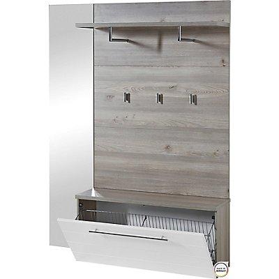 Garderobe HxBxT 1740 x 1350 x 300 mm, nelson-eiche/weiß