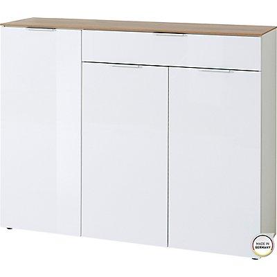 """Sideboard """"Madrid"""" HxBxT 1060 x 1340 x 400 mm, weiß/navarra-eiche"""