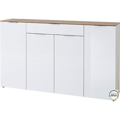"""Certeo Sideboard """"Madrid"""" HxBxT 1060 x 1790 x 400 mm, weiß/navarra-eiche"""