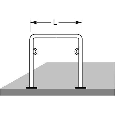 WSM Fahrradanlehnsystem TRUST21, Länge 1000 mm