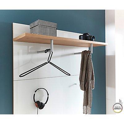 """Garderobenpaneel """"Florenz"""" HxBxT 1900 x 390 x 300 mm, navarra-eiche/weiß"""