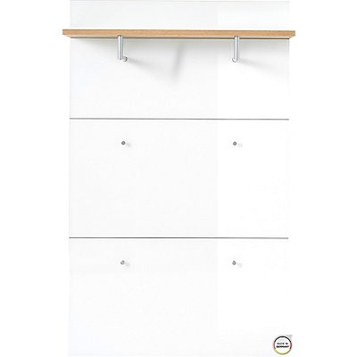 """Certeo Garderobenpaneel """"Florenz"""" HxBxT 1440 x 890 x 300 mm, navarra-eiche/weiß"""