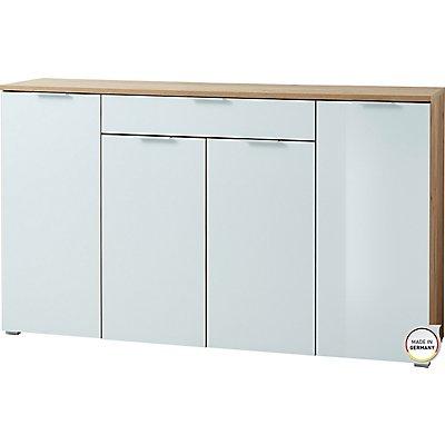 """Certeo Sideboard """"Florenz"""" HxBxT 1050 x 1800 x 400 mm, navarra-eiche/weiß"""