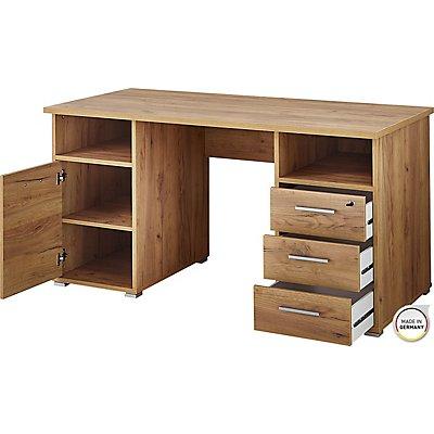Certeo Schreibtisch HxBxT 750 x 1450 x 700 mm, navarra-eiche