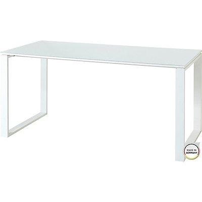 """Schreibtisch """"Leeds"""" HxBxT 750 x 1600 x 800 mm, weiß"""