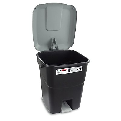 Tayg Wertstofftonne aus Kunststoff mit Fußpedal - Volumen 50 Liter