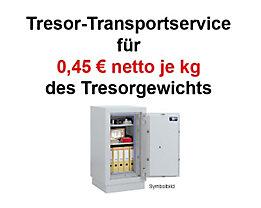 Transportservice Tresore - Ihren neuen Tresor liefern wir auf Wunsch frei Verwendungsstelle - für diesen Service berechnen wir lediglich EUR 0,45 je Kilogramm