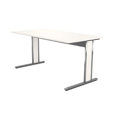Kerkmann Schreibtisch mit C-Fuß-Gestell aus Edelstahl