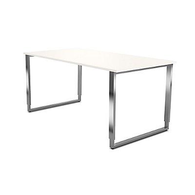 Kerkmann höhenverstellbarer Tisch mit Bügelgestell aus Edelstahl