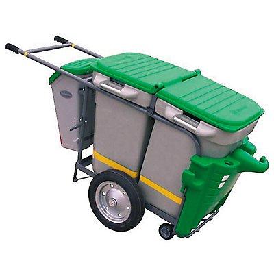Reinigungswagen SPACE LINER | Behältervolumen 2 x 100 l und 1 x 30 l | Certeo
