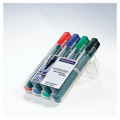 STAEDLER Permanentmaker Lumocolor 350 WP4 2-5mm sortiert 4 St./Pack.