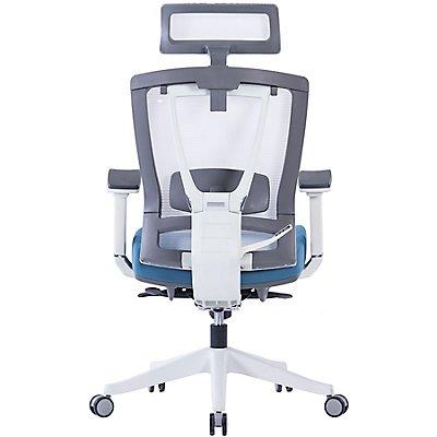 Bürodrehstuhl Contract Plus - mit Kopfstütze und Netz-Rückenlehne,