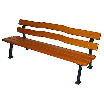 Parkbank mit Gussgestell massiv - Sitz- und Rückenfläche Fichtenholz
