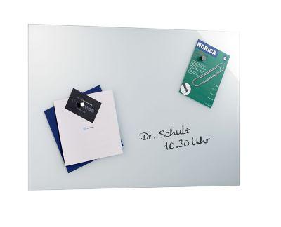 Magnetische Glastafel 400 x 600 mm - inkl. Stift und Würfelmagnete -