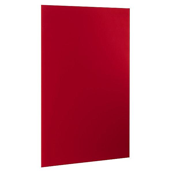 Image of Alco Magnetische Glastafel 1000 x 650 mm - inkl. Stift und Würfelmagnete - rot