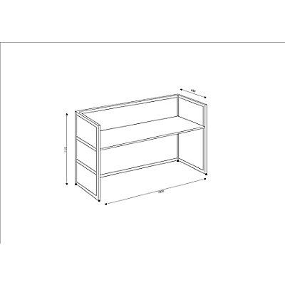 BST Tools Grundtheke - gerade, Tischplatte Anthrazit