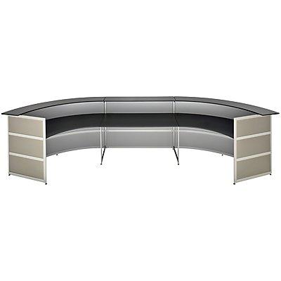 BST Tools Anbautheke - rund, Tischplatte Anthrazit