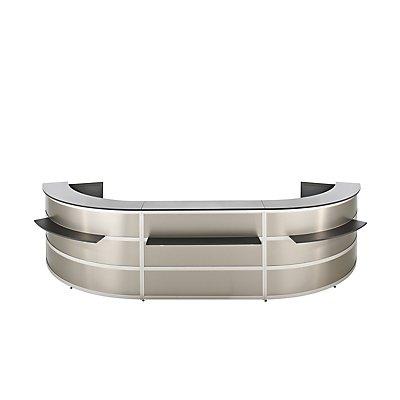 BST Tools Anbautheke - gerade, Tischplatte Anthrazit