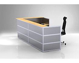 Banque d'angle Tools - plateau de table hêtre