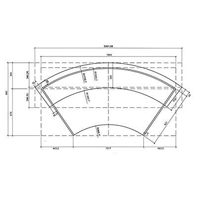 BST Tools Anbautheke - rund, Tischplatte Buche