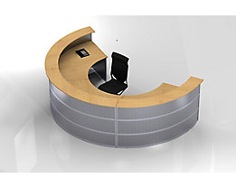 BST Tools Thekentop für runde Theken - Dekor Buche - Thekentop rund Buche