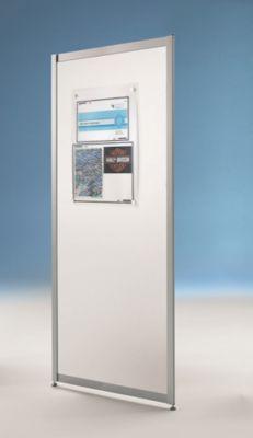Raumteiler schmal - 1-teilige Optik - Raumteiler schmal, Metall weiß