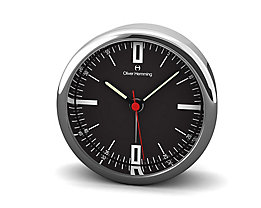 Pendule de bureau Design VI - Design Oliver Hemming, cadran noir