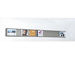 Système Q-Up Small pour photos et CD - en inox, 5 cadres inclus