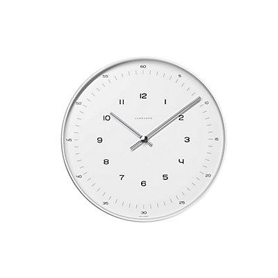 Horloge murale à chiffres, Design Max Bill - Horloge à quartz dans boîtier en aluminium - grand