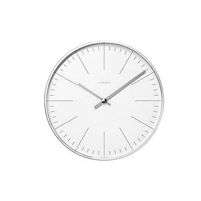 Horloge murale à traits, Design Max Bill - Horloge à quartz dans boîtier en aluminium - grand