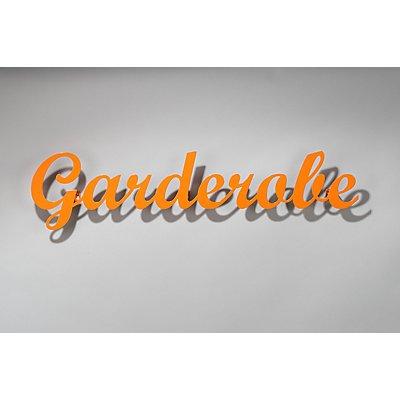 """Wandgarderobe \Garderobe\"""""""" - in Cremeweiß oder Orange"""""""""""""""""""
