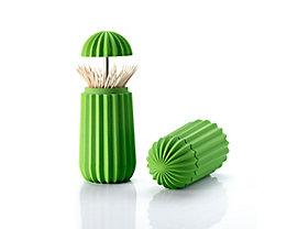 Boîte de rangement pour cures-dents Cactus de Essey - coloris vert