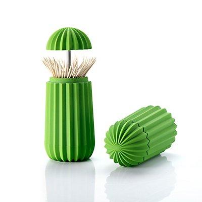 Boîte de rangement pour cures-dents Cactus de Essey - coloris vert - vert