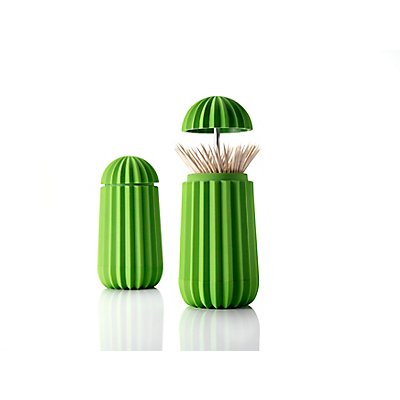 Zahnstocherhalter Cactus von Essey - in Grün - grün