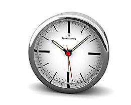 Pendule de bureau Design V - Design Oliver Hemming, cadran blanc