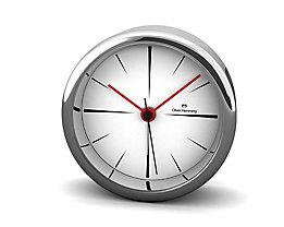 Pendule de bureau Design IV - Design Oliver Hemming, cadran blanc