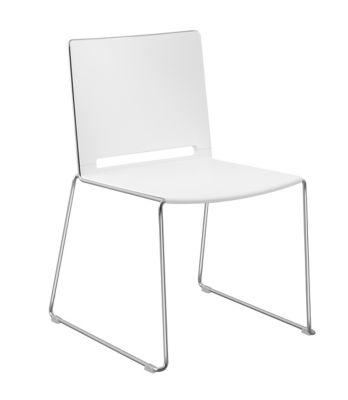 Stuhl mit Kufen - ohne Armlehne - Stuhl mit Kufen - schwarz