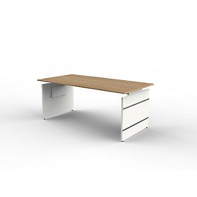 Form 4 Schreibtisch mit Wangen - 1800 x 900 mm, höhenverstellbar