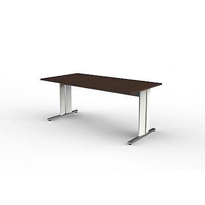 Form 4 Schreibtisch mit C-Fuß-Gestell - 1800 x 900 x 750 mm
