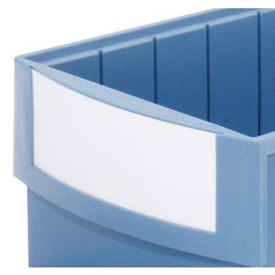 Etiketten weiss 235 x 145 mm, für Volumenregalkästen